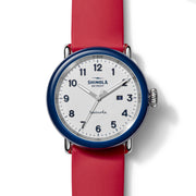 Shinola Detrola 43mm The Ace Red White Blue