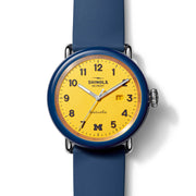 Shinola Detrola 43mm The Wolverine Blue Yellow