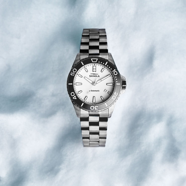 Shinola Ice Monster Titanium 43mm Automatic Gunmetal White