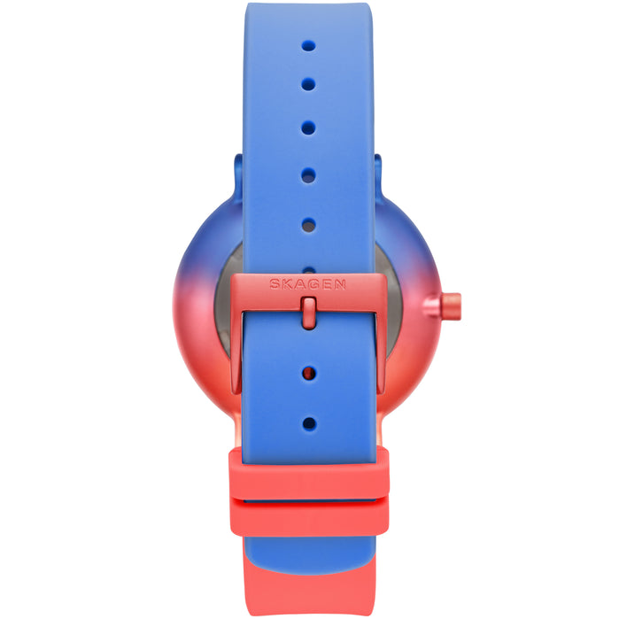 Skagen SKW2901 Aaren Ombre Red Blue Silicone angled shot picture