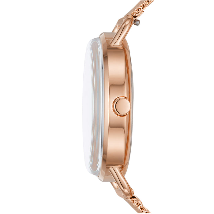 Skagen SKW2931 Horizont Multifunction 36mm Rose Gold angled shot picture