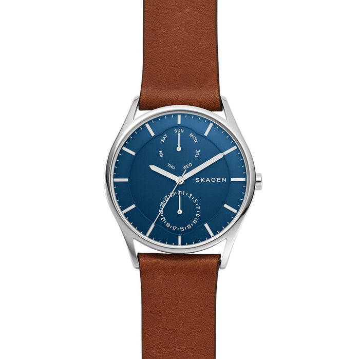 Skagen SKW6449 Holst Multifunction Blue Brown angled shot picture