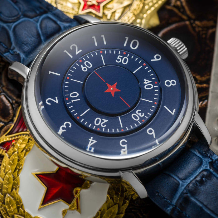 CCCP Aleksandrov Automatic Silver Blue angled shot picture