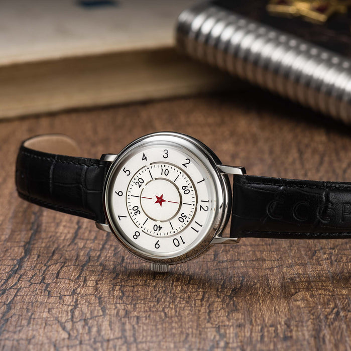 CCCP Aleksandrov Automatic Silver Black angled shot picture