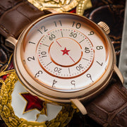 CCCP Aleksandrov Automatic Rose Gold Brown lifestyle