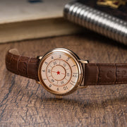 CCCP Aleksandrov Automatic Rose Gold Brown on desk
