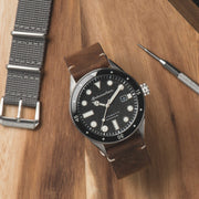 Spinnaker Cahill Automatic Black Silver Brown