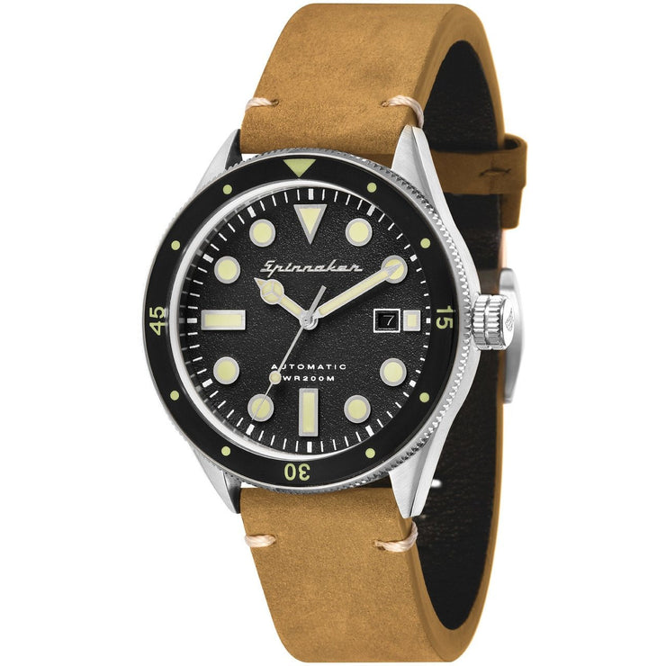 Spinnaker Cahill Automatic Silver Black