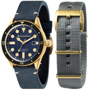 Spinnaker Cahill Automatic Brass Blue