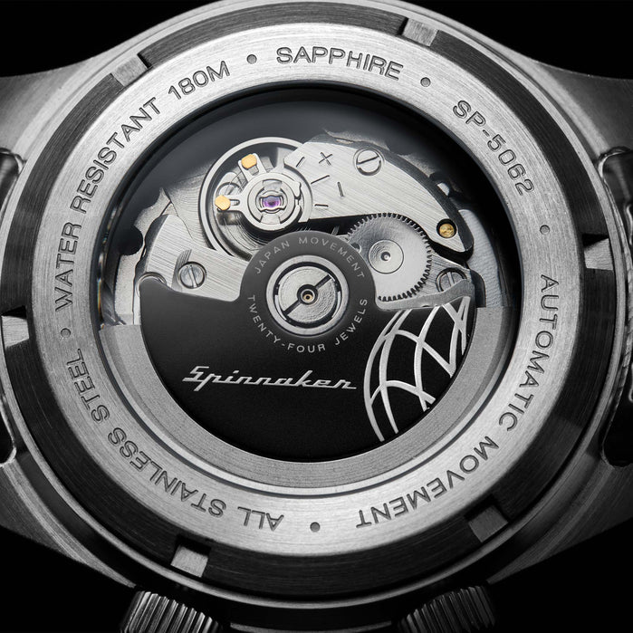 Spinnaker Bradner Automatic Silver Black angled shot picture