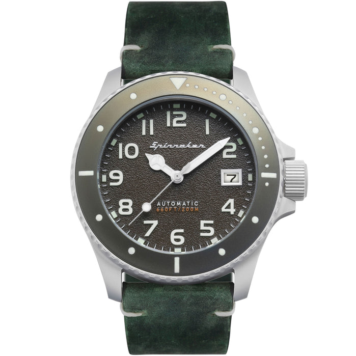 Spinnaker Spence Automatic Silver Green angled shot picture
