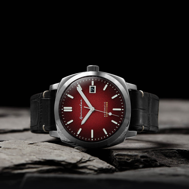 Spinnaker Hull Riviera Automatic Silver Red