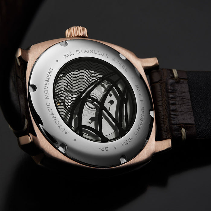 Spinnaker Hull Riviera Automatic Grey Rose Gold angled shot picture