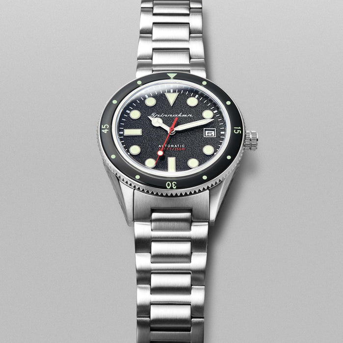 Spinnaker Cahill Automatic Mid-Size Silver Black angled shot picture