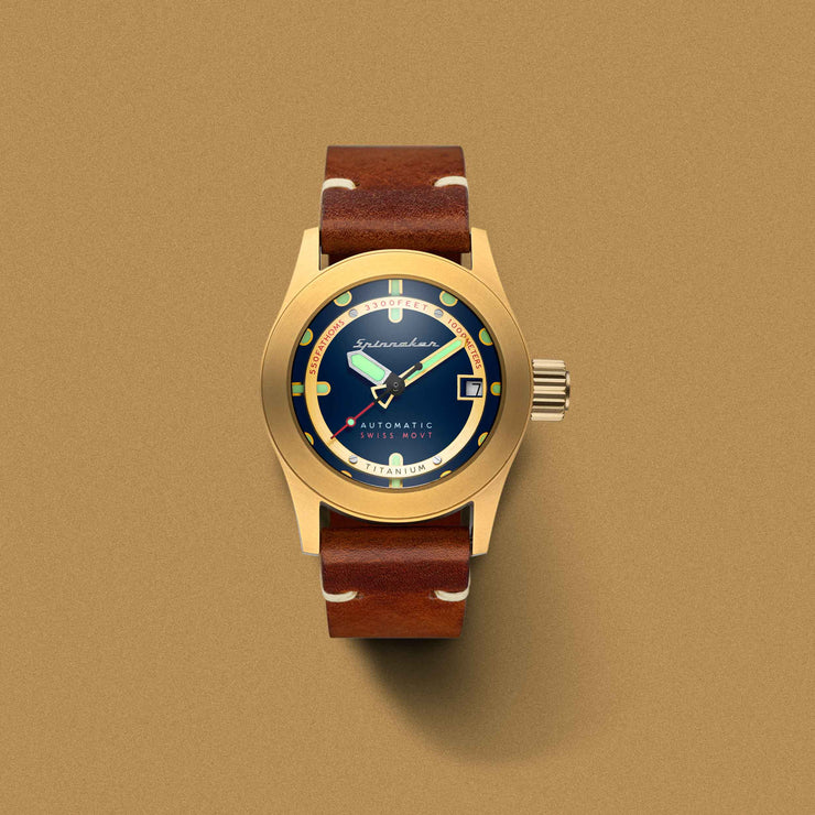 Spinnaker Piccard Automatic 1000 Meter Gold Blue