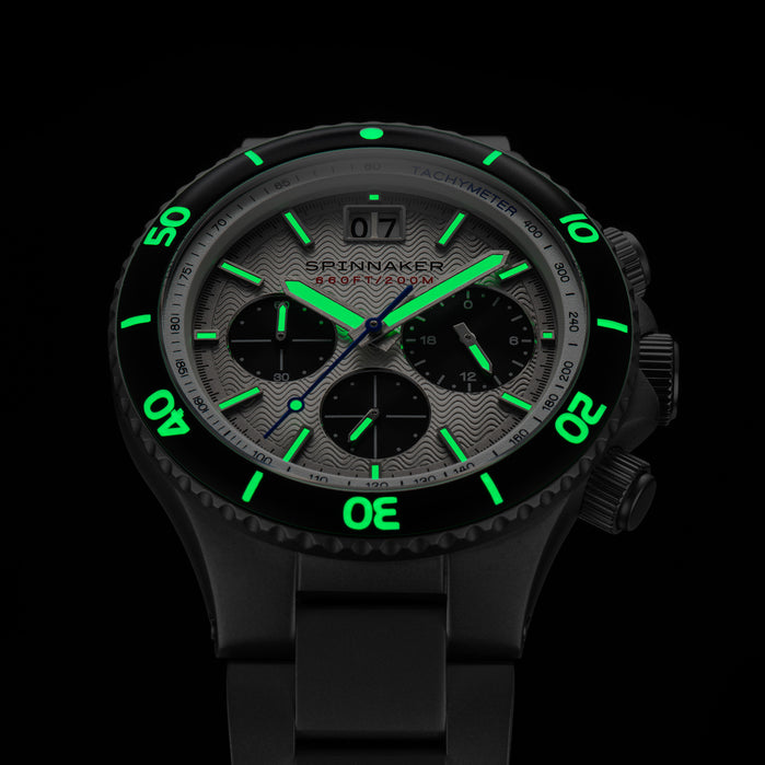Spinnaker Hydrofoil Chronograph Silver angled shot picture