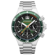 Spinnaker Hydrofoil Chronograph Silver Green