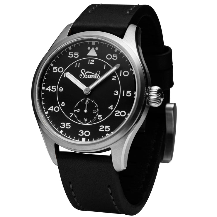 Szanto Heritage Aviator Steel Black