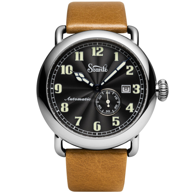 Szanto Officer's Classic Automatic Black Tan