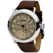 Szanto Officer's Classic Automatic Silver Brown