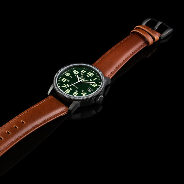 Szanto Military Field Black Green Brown angled shot picture