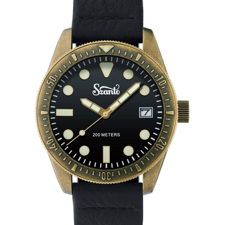 Szanto Vintage Dive Antique Bronze Black Black