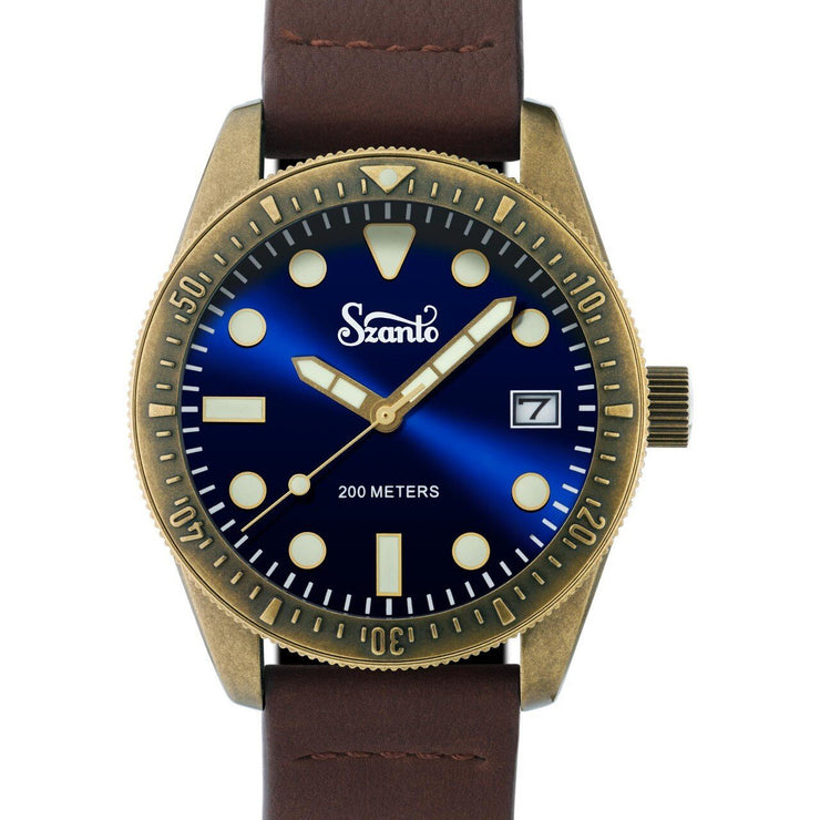Szanto Vintage Dive Antique Bronze Blue Brown