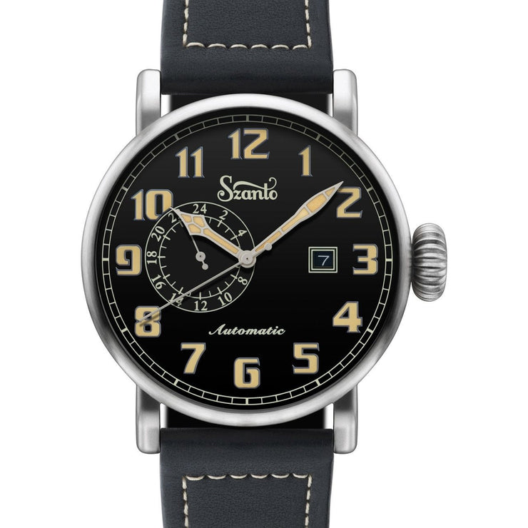 Szanto Big Aviator Automatic Black Black