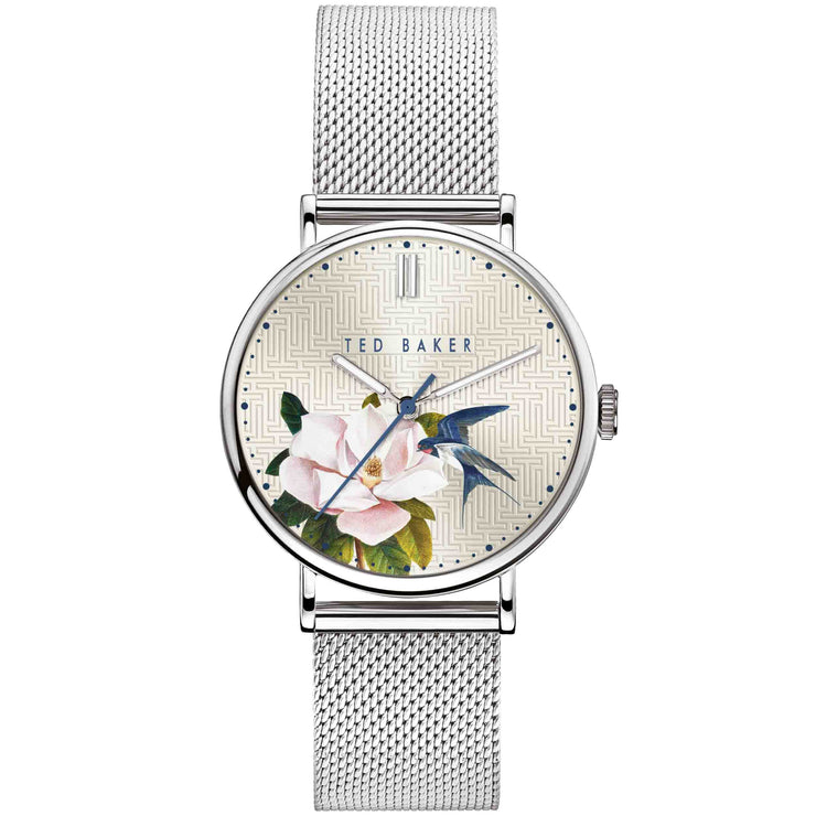 Ted Baker Phylipa Flowers Silver Ivy
