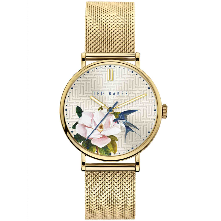Ted Baker Phylipa Flowers Gold Ivy