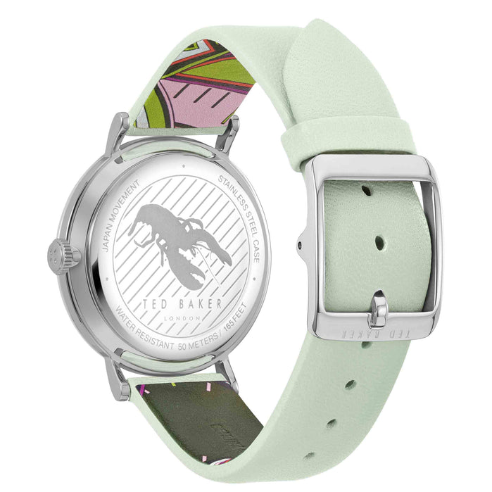 Ted Baker Phylipa Flowers Silver Green angled shot picture