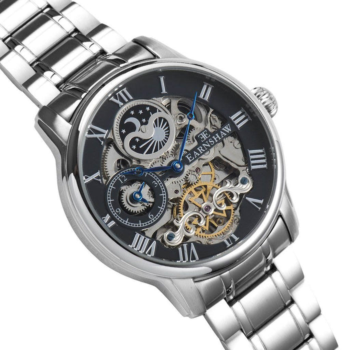 Thomas Earnshaw Longitude Automatic Silver angled shot picture