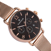 Thomas Earnshaw Investigator Chronograph Rose Gold Mesh