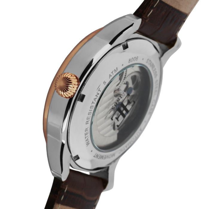 Thomas Earnshaw Longitude Automatic Silver Brown White angled shot picture