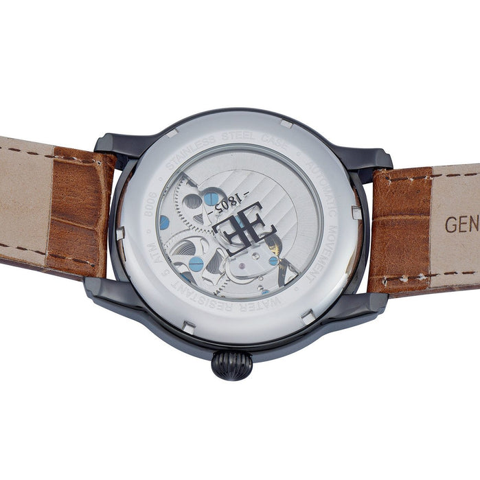 Thomas Earnshaw Longitude Automatic Black Brown angled shot picture