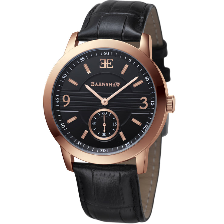 Thomas Earnshaw Greenock Black Rose Gold