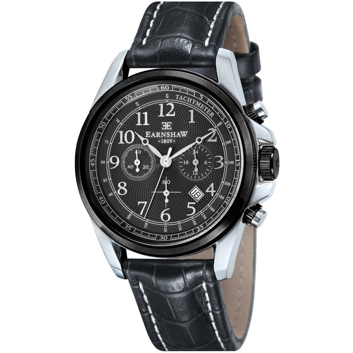 Thomas Earnshaw Commodore Chronograph Black Silver angled shot picture