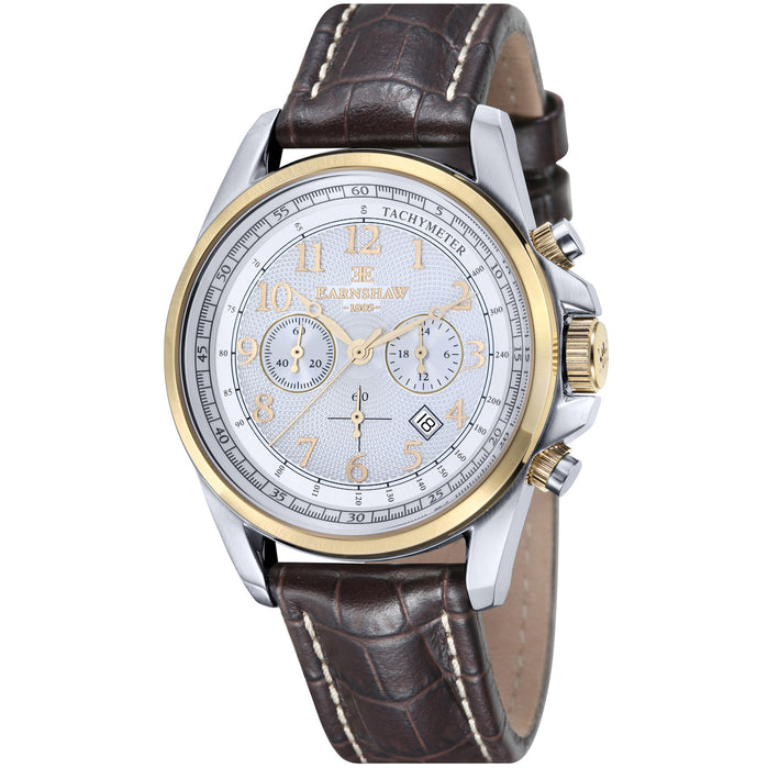 Thomas Earnshaw Commodore Chronograph Silver Gold angled shot picture