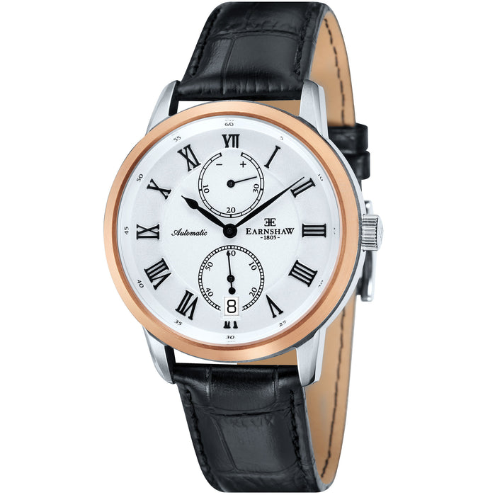 Thomas Earnshaw Chancery Automatic White Rose Gold angled shot picture