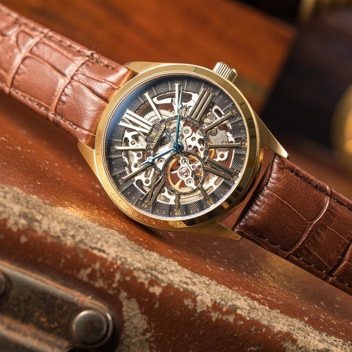 Thomas Earnshaw Armagh Automatic Gold Brown angled shot picture