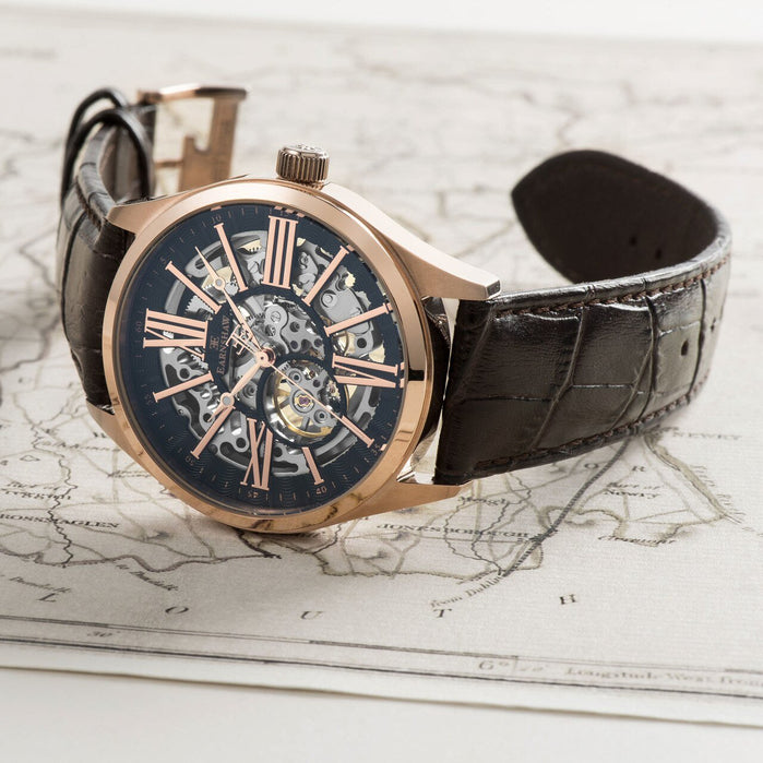 Thomas Earnshaw Armagh Automatic Rose Gold Brown angled shot picture