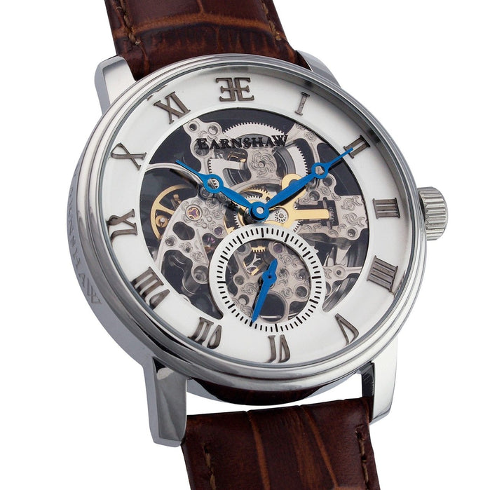 Thomas Earnshaw Westminster Automatic Silver Brown White angled shot picture