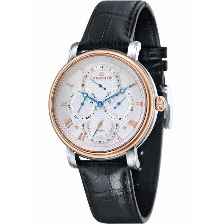 Thomas Earnshaw Longcase Master Calendar Rose Gold Black