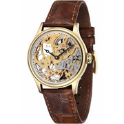 Thomas Earnshaw Bauer Hand Wind Skeleton Gold