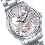 Thomas Earnshaw Bauer Hand Wind Skeleton All Silver