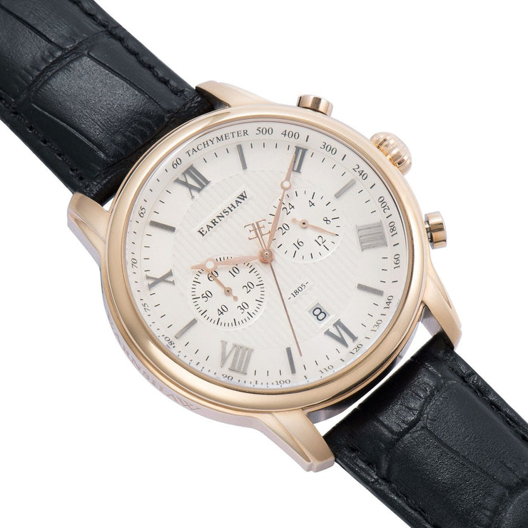 Thomas Earnshaw Longcase Longitude Rose Gold White