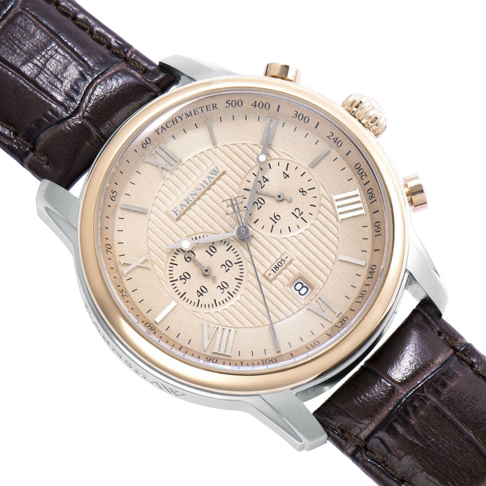 Thomas Earnshaw Longitude Chronograph Brown angled shot picture