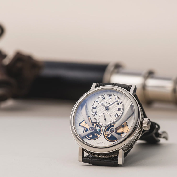 Thomas Earnshaw Beaufort Anatolia Automatic Silver Black White