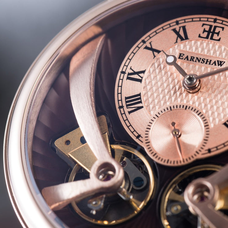Thomas Earnshaw Beaufort Anatolia Automatic Rose Gold Brown