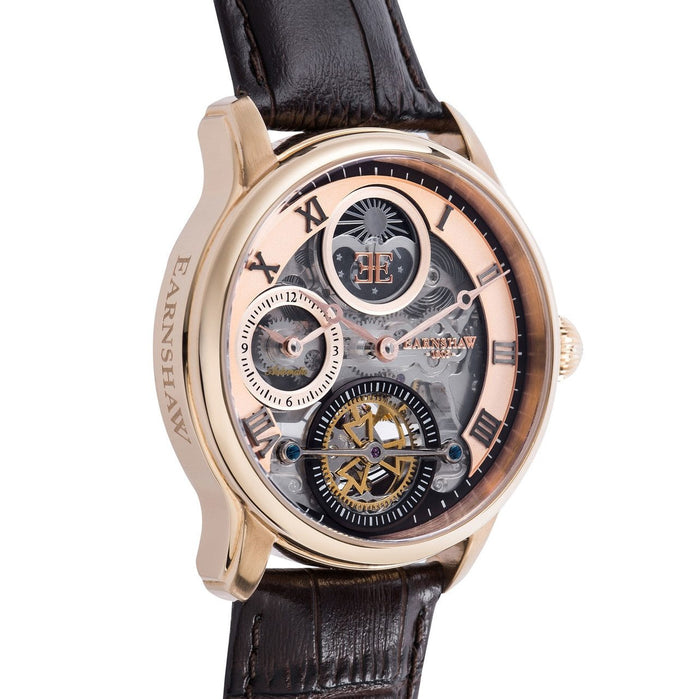 Thomas Earnshaw Longitude Shadow Automatic Rose Gold Brown angled shot picture
